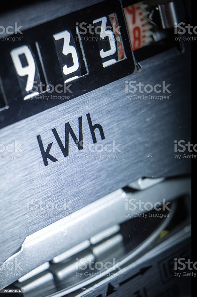Domestic Power Meter stock photo