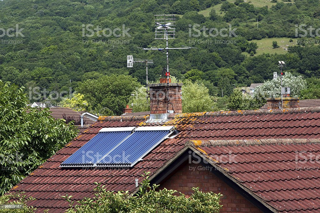 Domestic solar panels royalty-free stock photo