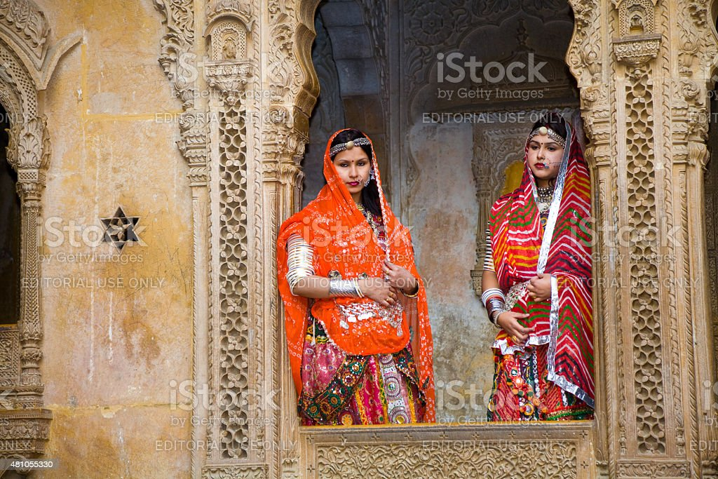 Domestic tourists, Jaisalmer, India stock photo