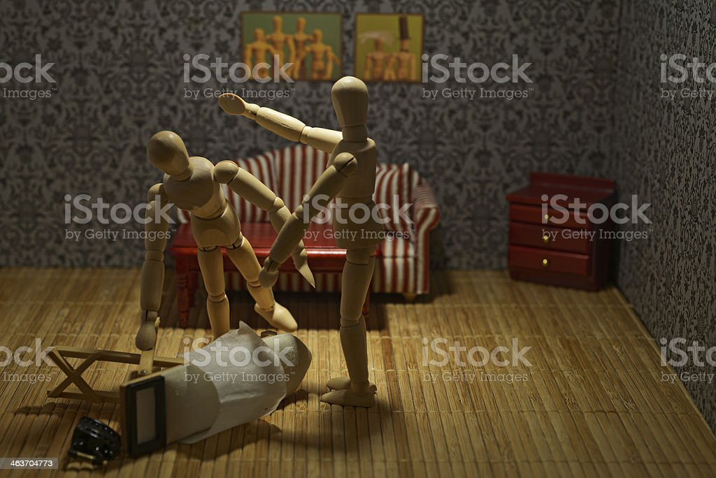 Domestic violence against women royalty-free stock photo