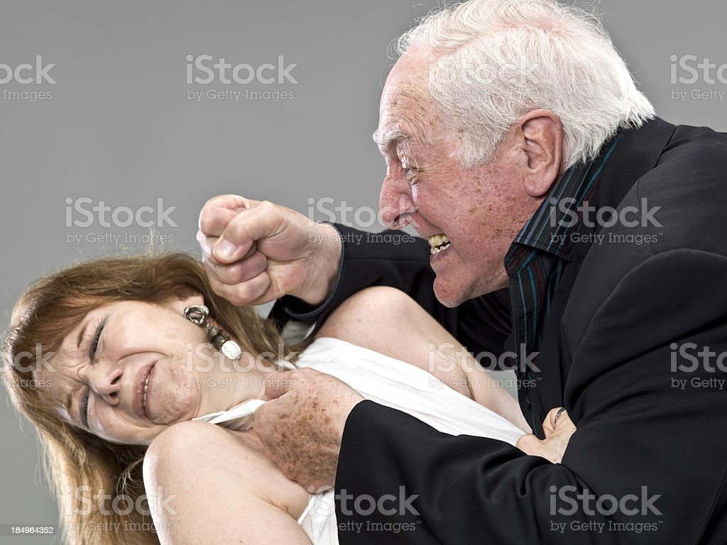 Domestic Violence Among Seniors stock photo