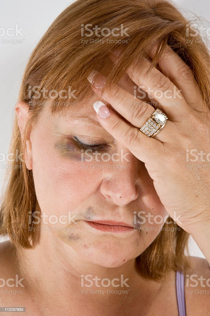 Domestic violence Hits all classes royalty-free stock photo