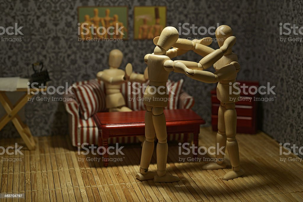 Domestic violence in the family royalty-free stock photo