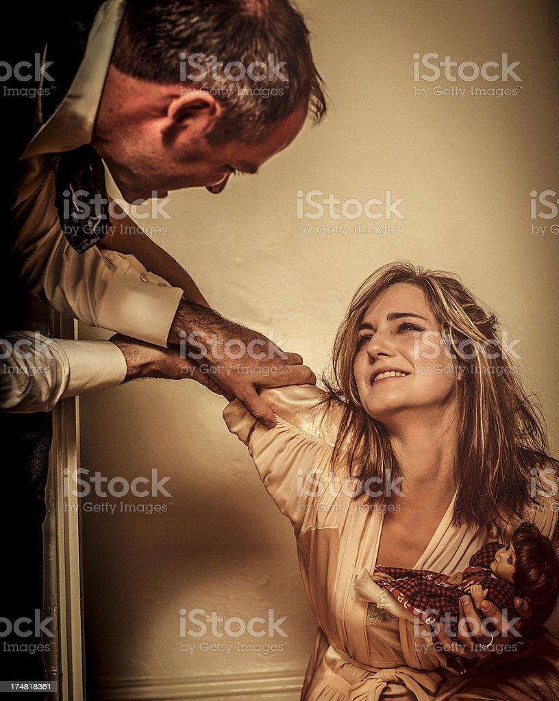 Domestic violence royalty-free stock photo