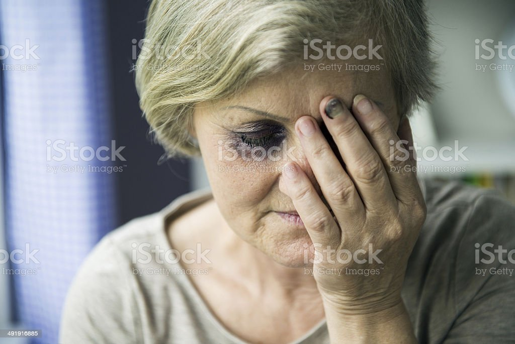 Domestic violence stock photo