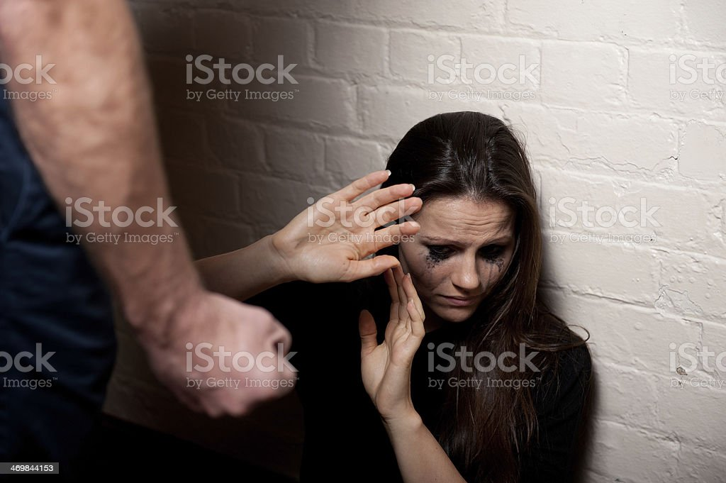 Domestic Violence/Bullying stock photo
