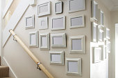 Domestic Wall Covered in Photo Frames