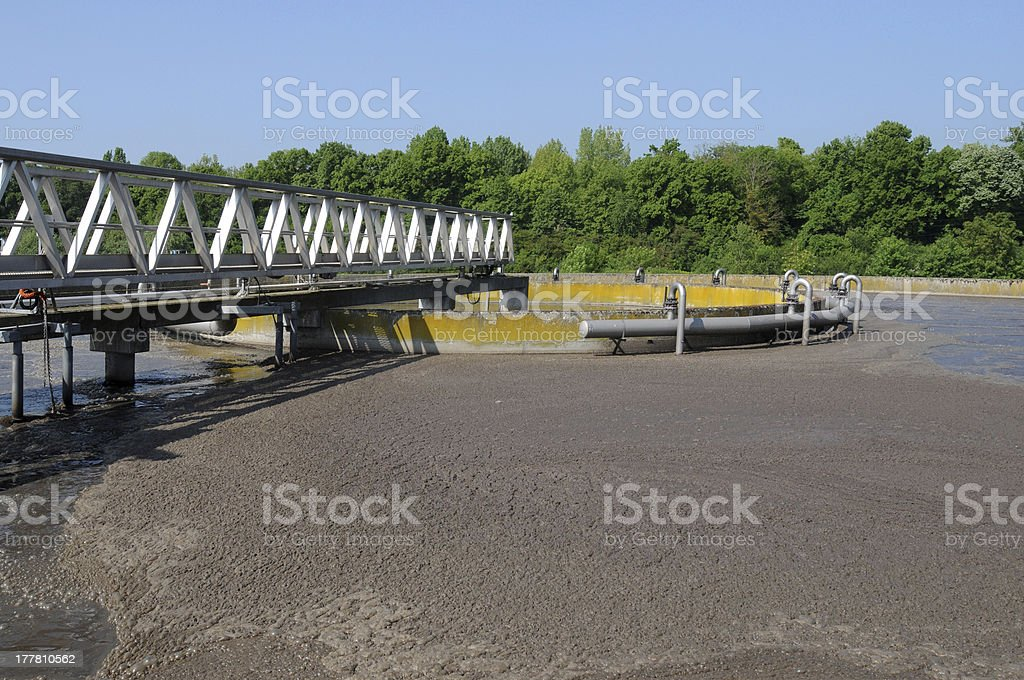 domestic wastewater treatment in Les Mureaux royalty-free stock photo