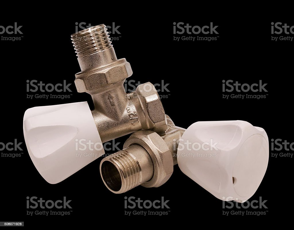 Domestic water faucet half inch stock photo