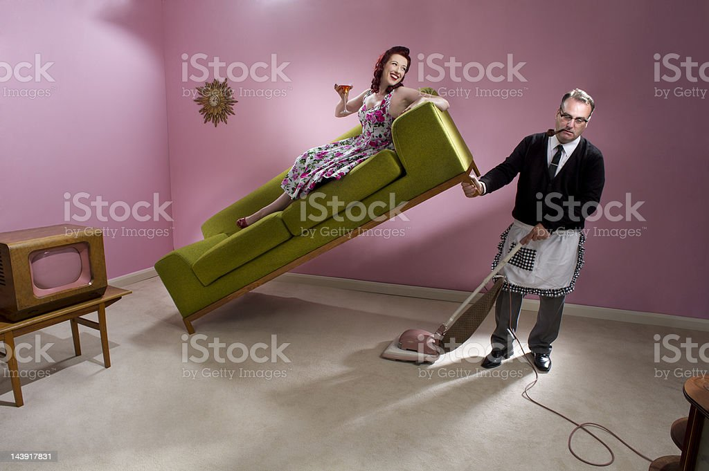 domesticated 1950 man royalty-free stock photo