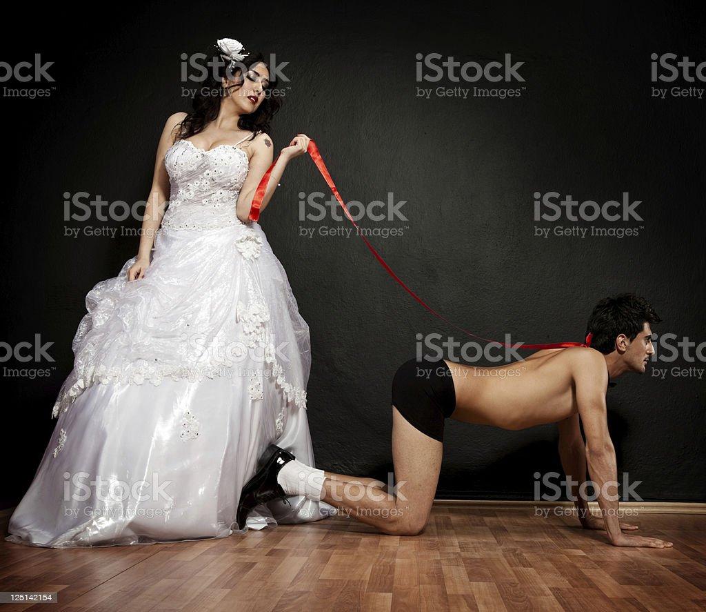 Dominating bride royalty-free stock photo