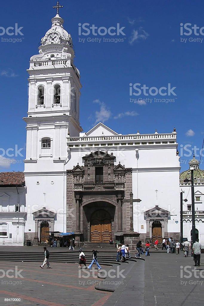 S. Domingo square, quito royalty-free stock photo