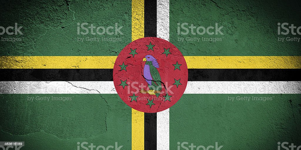 Dominica flag royalty-free stock photo