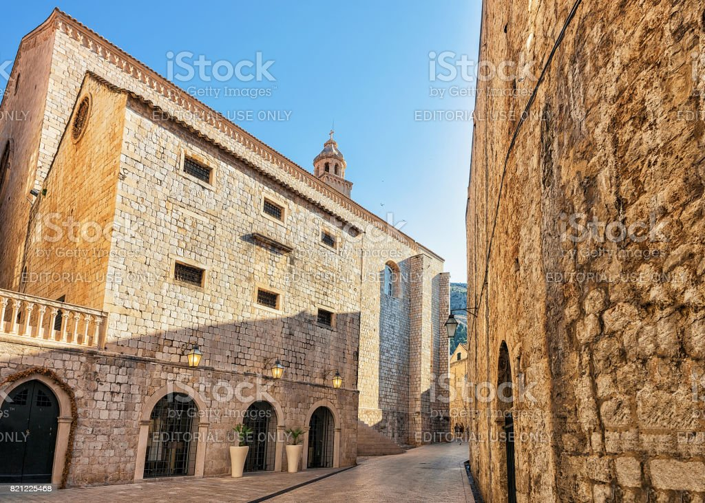 Dominican Church in Old town Dubrovnik stock photo