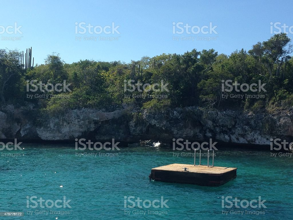 Dominican Diving Board stock photo