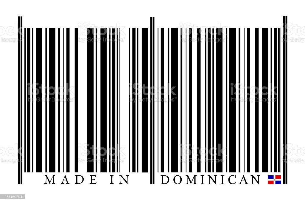 Dominican Republic barcode stock photo