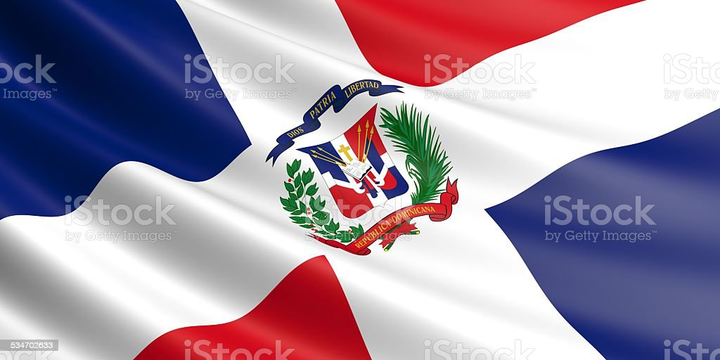 Dominican Republic flag. royalty-free stock vector art