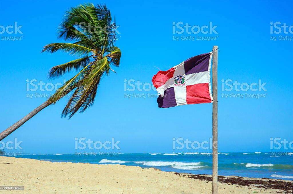 Dominican Republic flag stock photo