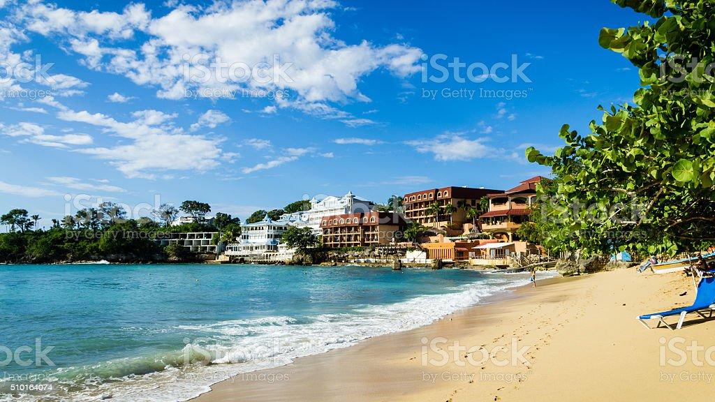 Dominican Republic - Sosua Bay stock photo
