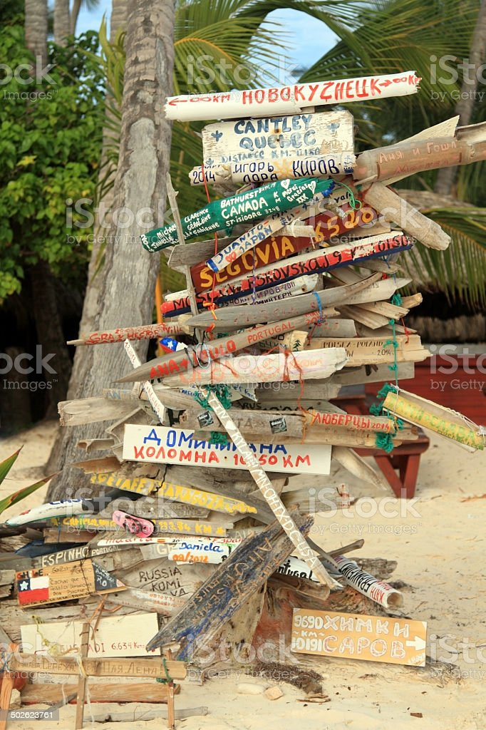Dominican signpost royalty-free stock photo