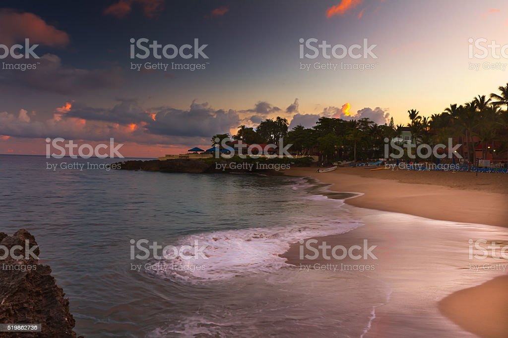 Dominican Sunrise - 2 stock photo