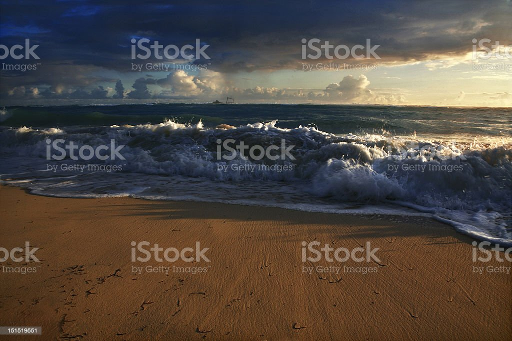 dominican sunrise royalty-free stock photo