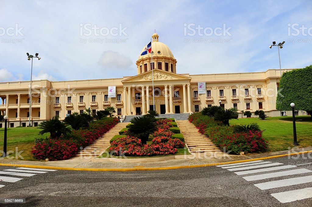 Dominican White House stock photo