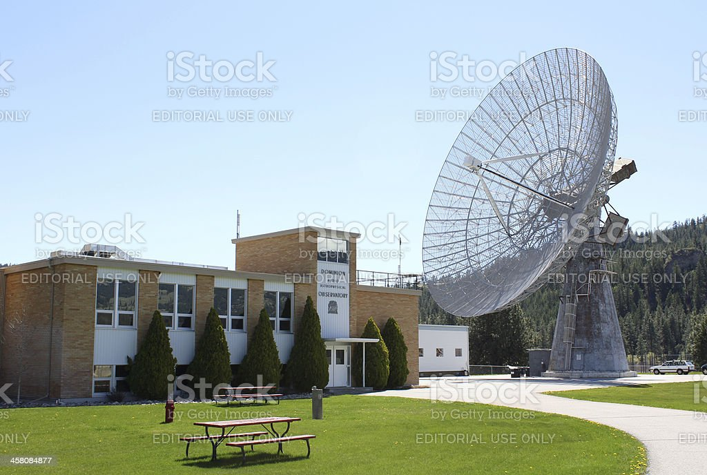 Dominion Radio Astrophysical Observatory, B.C. royalty-free stock photo
