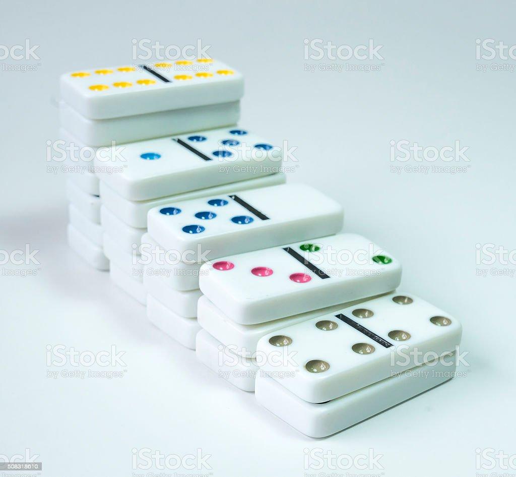 Domino block stock photo