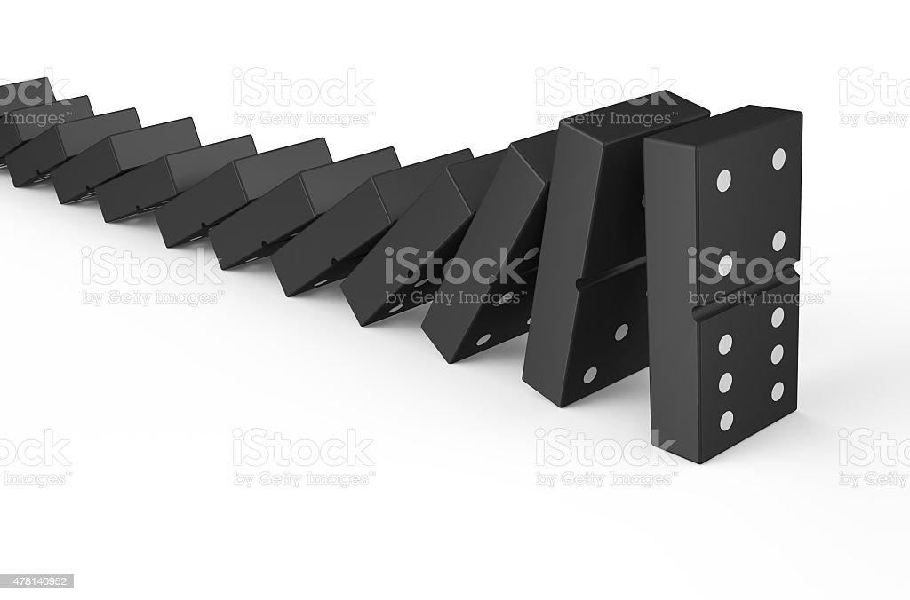 domino effect 2 stock photo
