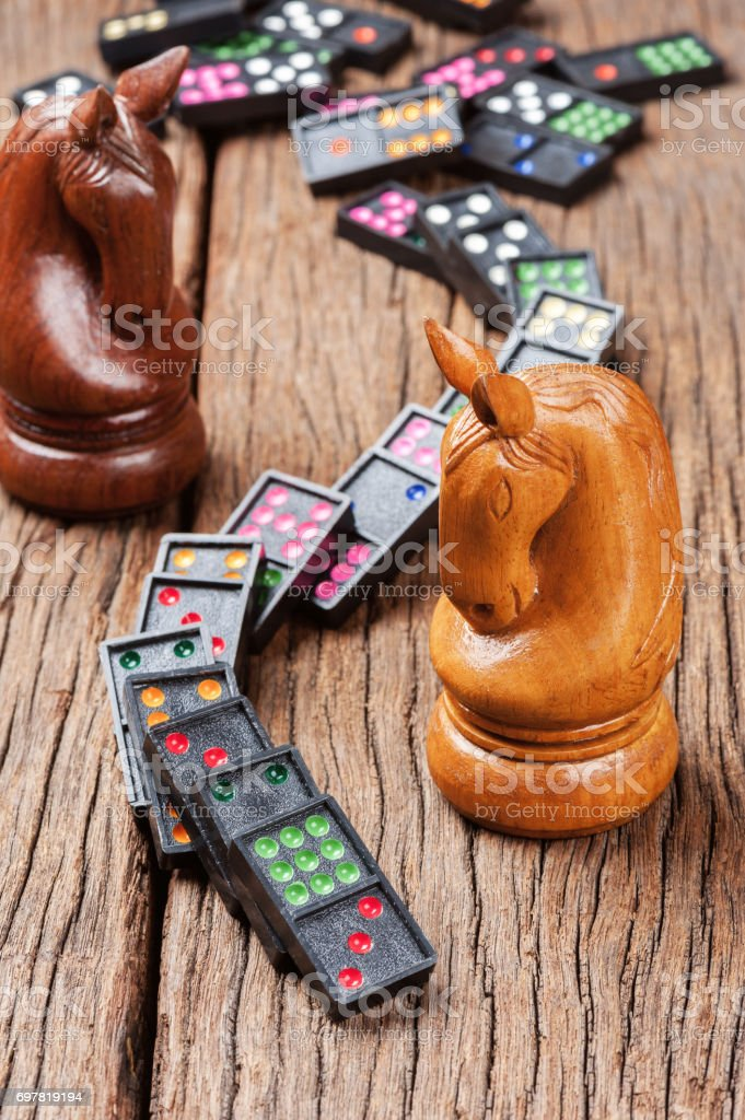domino effect concept stock photo