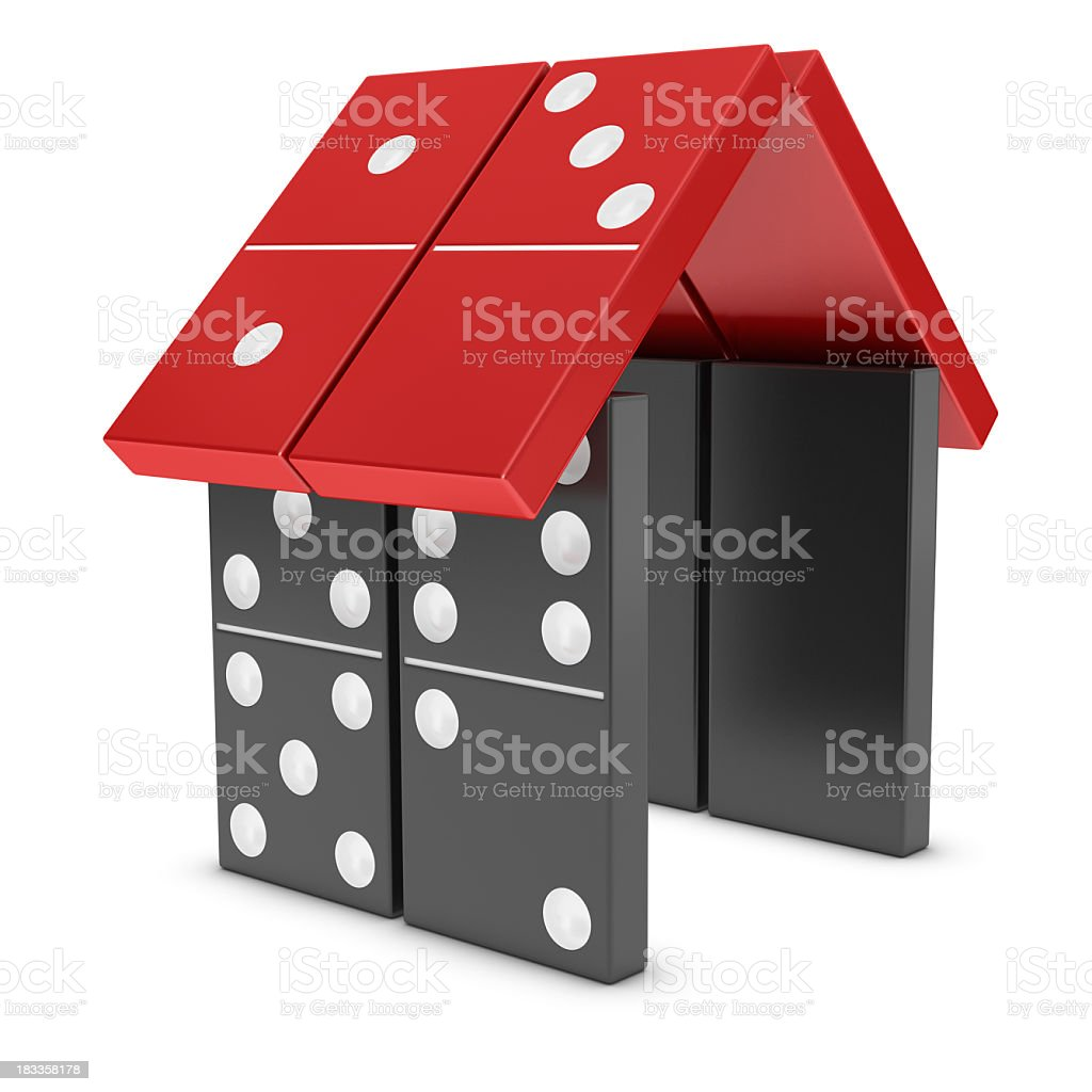 Domino Effect - House stock photo