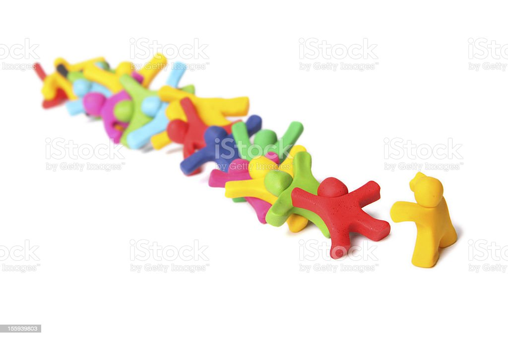 domino effect royalty-free stock photo