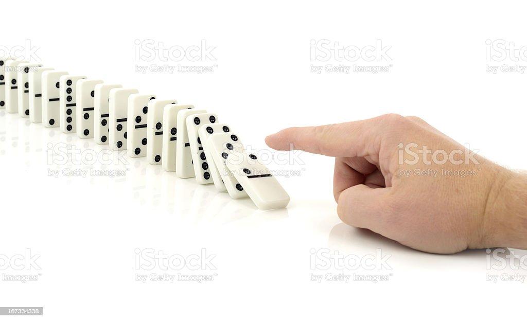 Domino fall stock photo