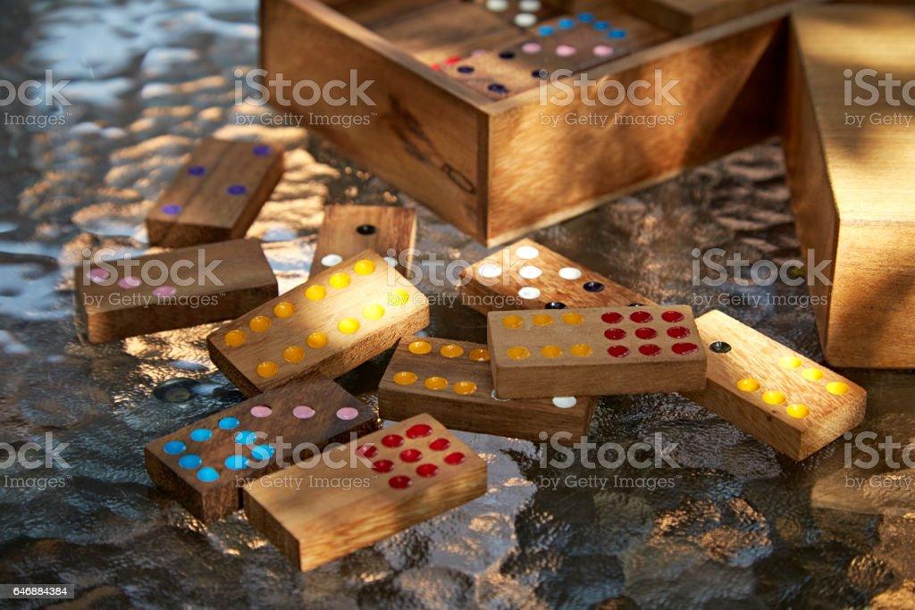 domino game stock photo