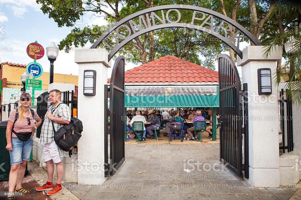 Domino Park stock photo