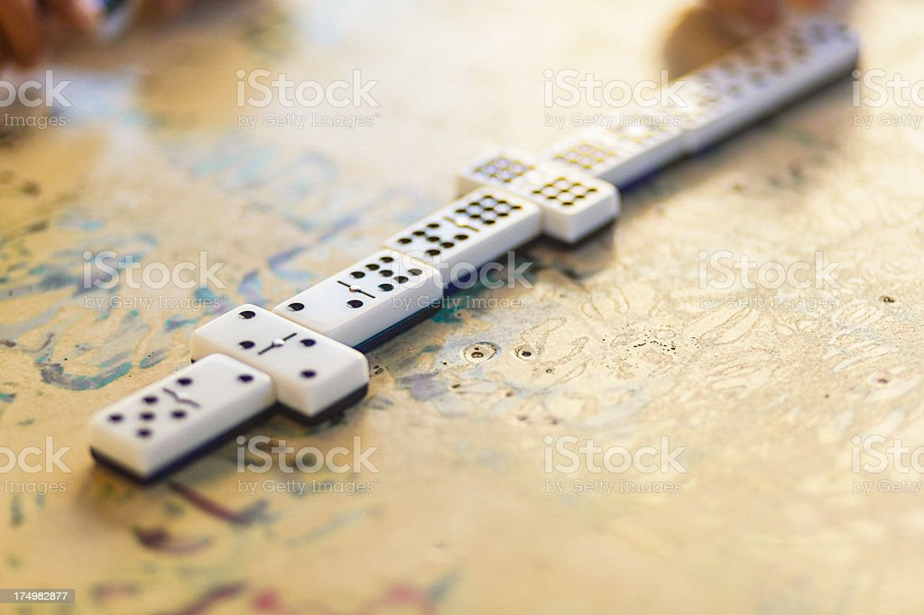 Domino royalty-free stock photo