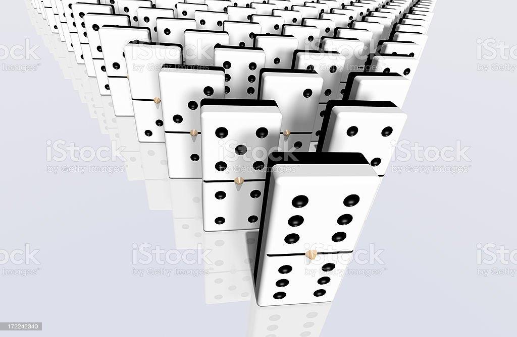 Domino Pyramid royalty-free stock photo