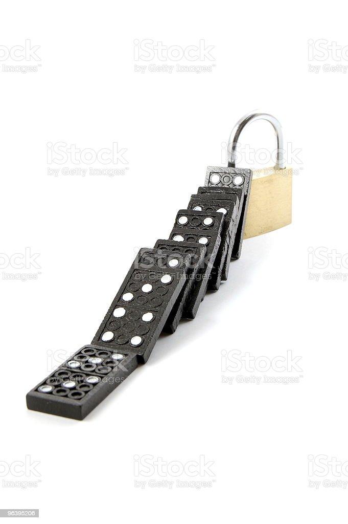 domino security stock photo