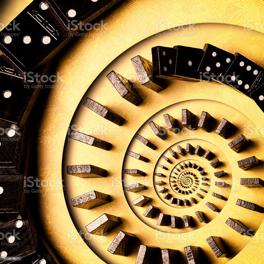 Domino Spiral royalty-free stock photo