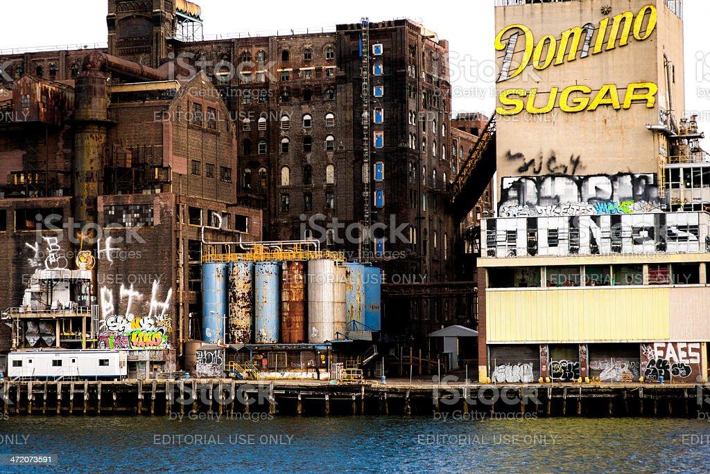 Domino Sugar Refinery stock photo