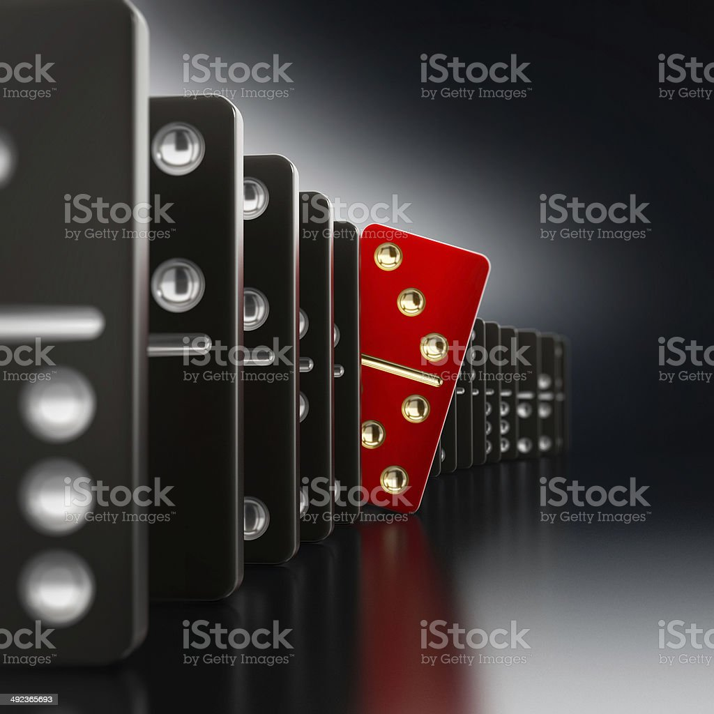 Domino tiles stock photo
