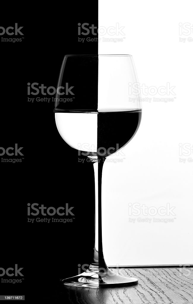 domino wine glass stock photo