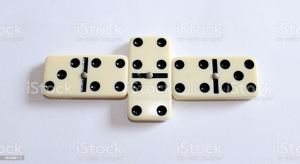Dominoes and their numbers stock photo