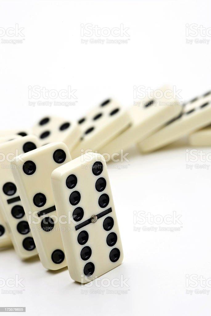 Dominoes falling royalty-free stock photo