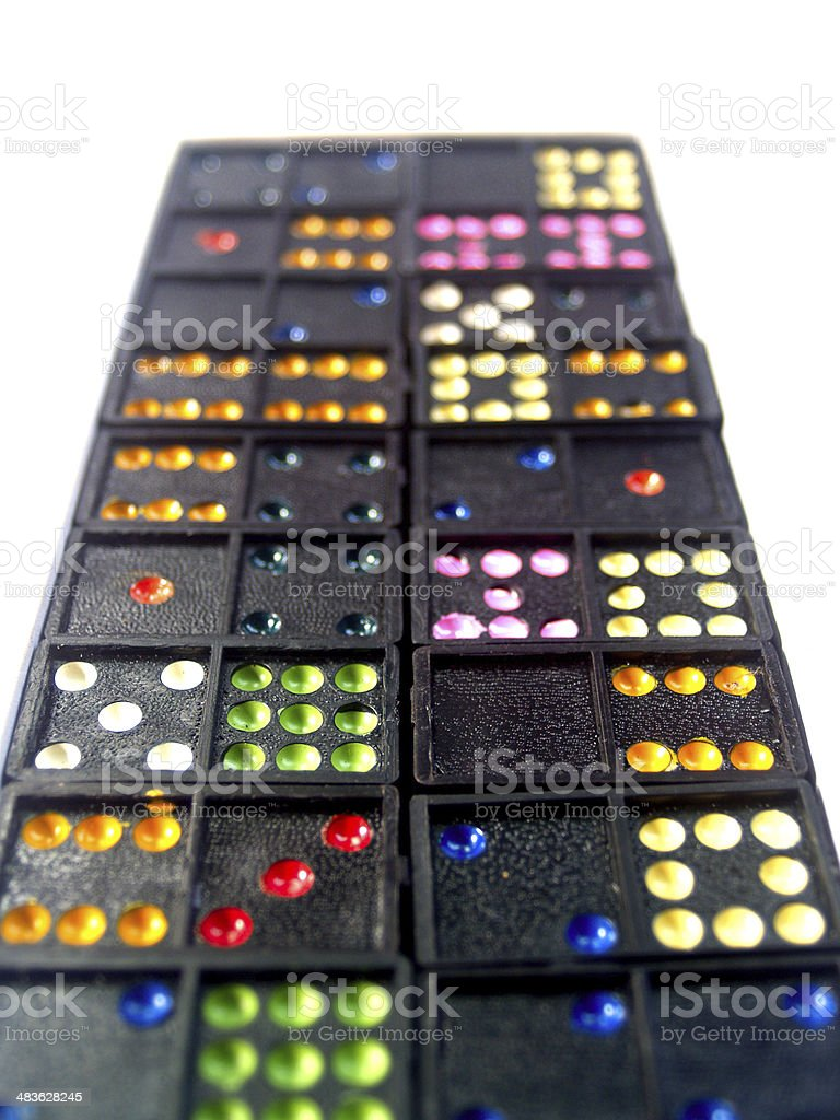 Dominoes games royalty-free stock photo