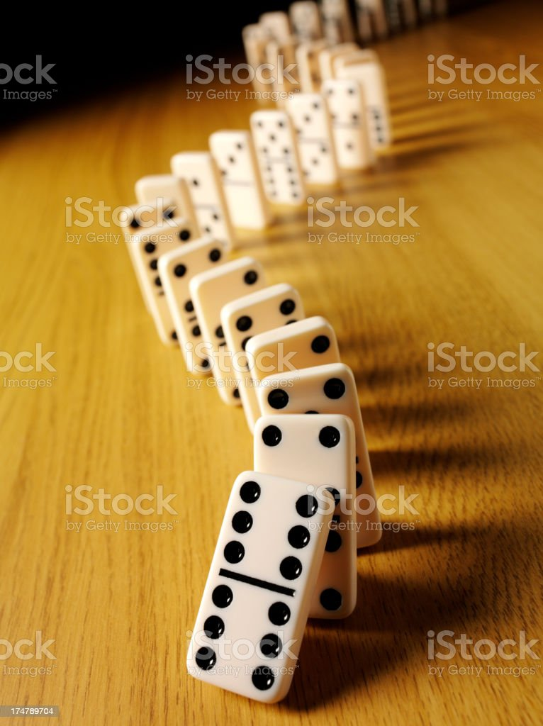 Dominoes on a Wooden Background royalty-free stock photo