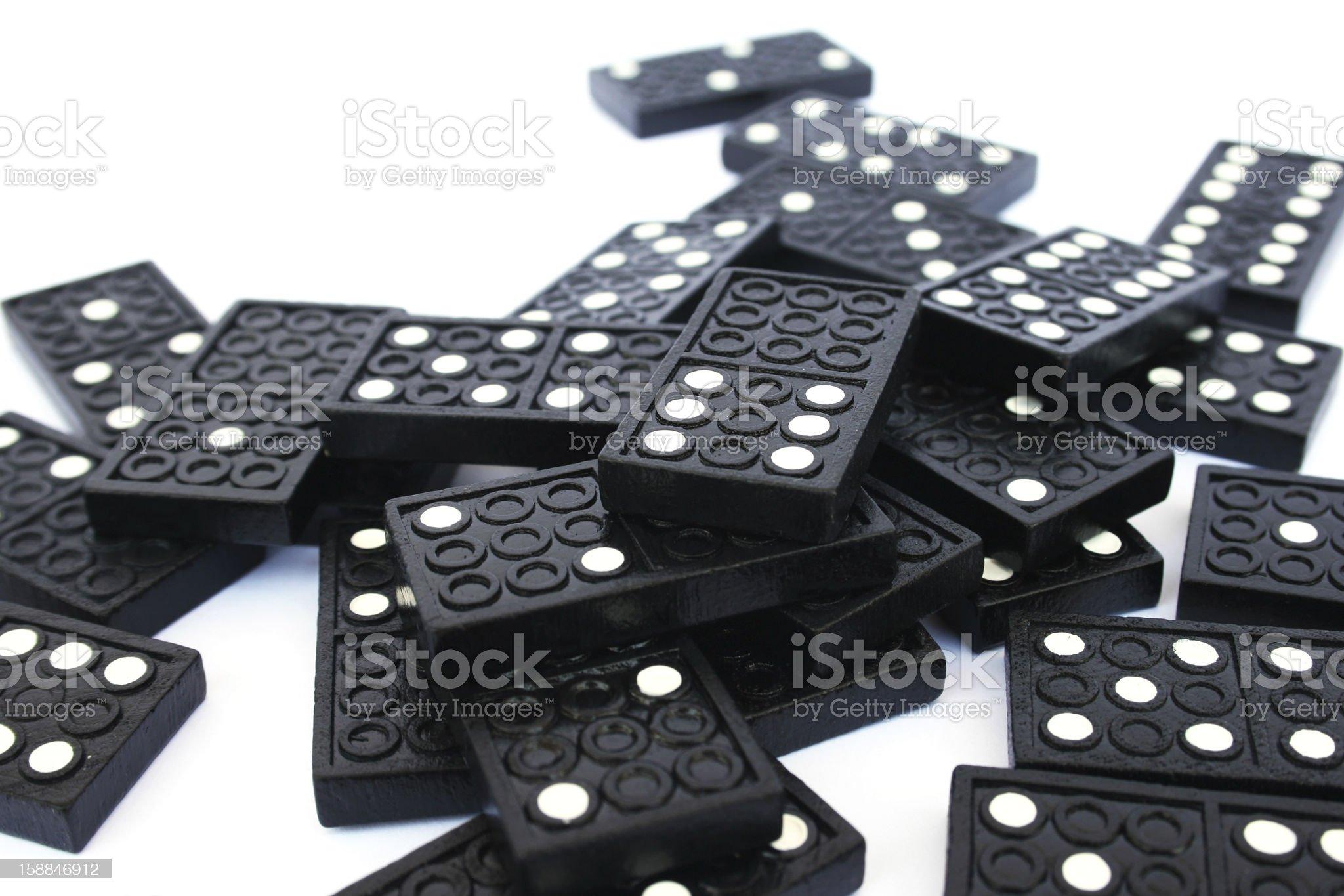 Dominoes royalty-free stock photo