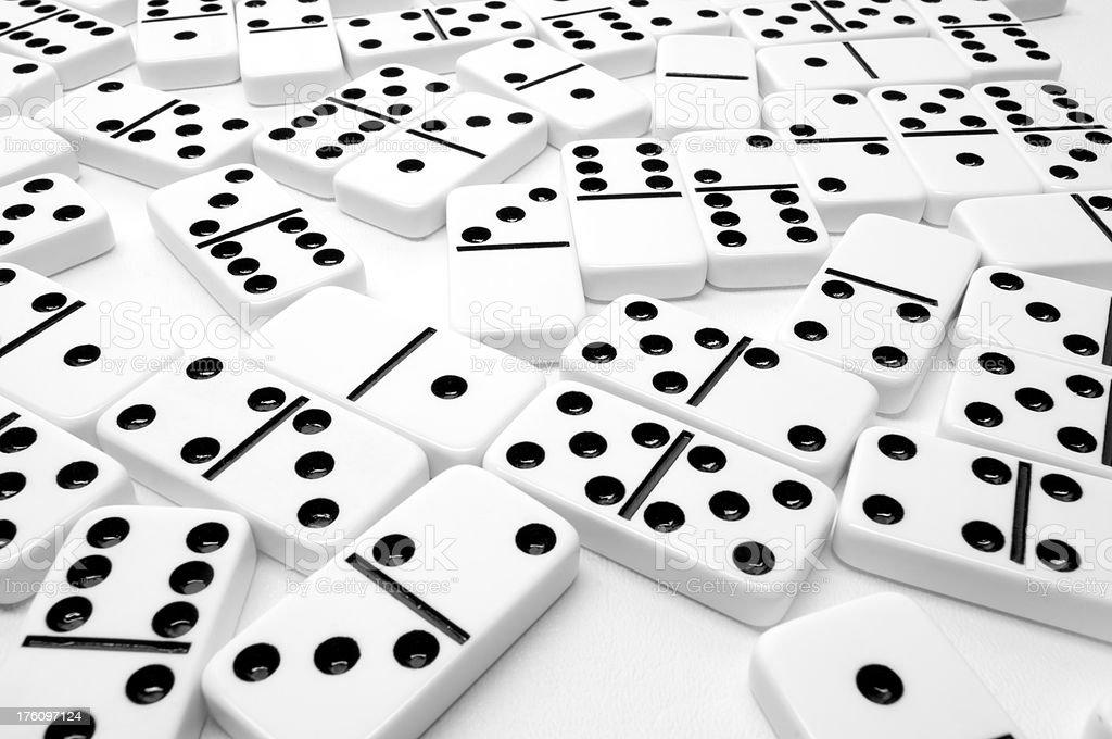 Dominoes stock photo