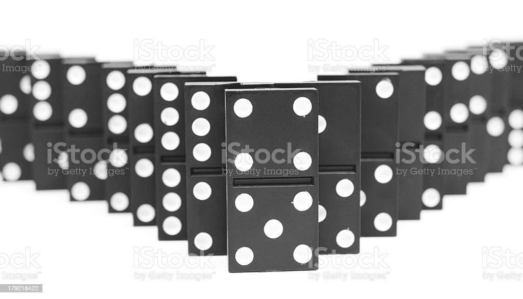 Dominoes. royalty-free stock photo
